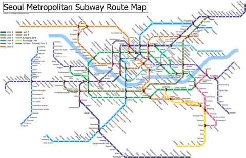 Seoul Subway Map 1980s.Seoul 3