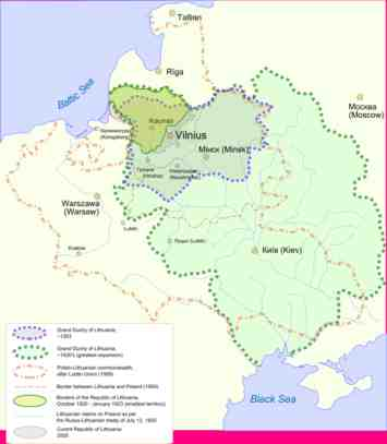 Lithuania - Lithuania physical map