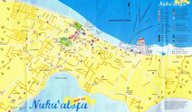 tonga street map gallery